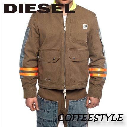 DIESEL Denim Logo Jackets