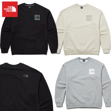 THE NORTH FACE Sweatshirts Crew Neck Pullovers Unisex Street Style Long Sleeves Cotton