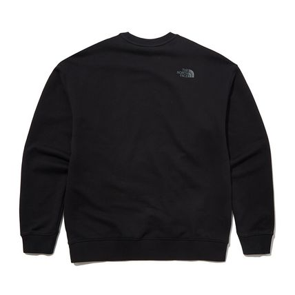 THE NORTH FACE Sweatshirts Crew Neck Pullovers Unisex Street Style Long Sleeves Cotton 3