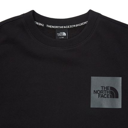 THE NORTH FACE Sweatshirts Crew Neck Pullovers Unisex Street Style Long Sleeves Cotton 4