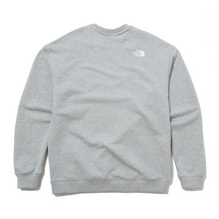 THE NORTH FACE Sweatshirts Crew Neck Pullovers Unisex Street Style Long Sleeves Cotton 9