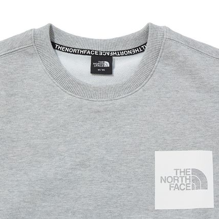 THE NORTH FACE Sweatshirts Crew Neck Pullovers Unisex Street Style Long Sleeves Cotton 10