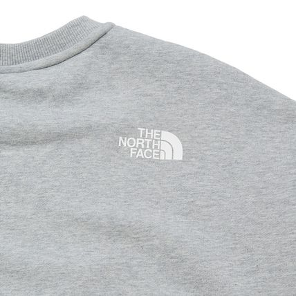 THE NORTH FACE Sweatshirts Crew Neck Pullovers Unisex Street Style Long Sleeves Cotton 13