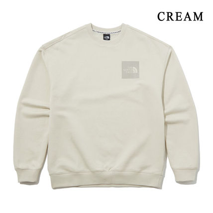 THE NORTH FACE Sweatshirts Crew Neck Pullovers Unisex Street Style Long Sleeves Cotton 14