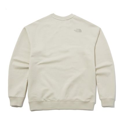 THE NORTH FACE Sweatshirts Crew Neck Pullovers Unisex Street Style Long Sleeves Cotton 15