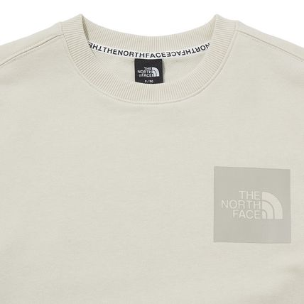 THE NORTH FACE Sweatshirts Crew Neck Pullovers Unisex Street Style Long Sleeves Cotton 16