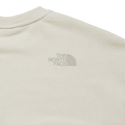 THE NORTH FACE Sweatshirts Crew Neck Pullovers Unisex Street Style Long Sleeves Cotton 19