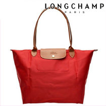 Longchamp LE PLIAGE CUIR Casual Style Nylon A4 Plain Leather Party Style Office Style