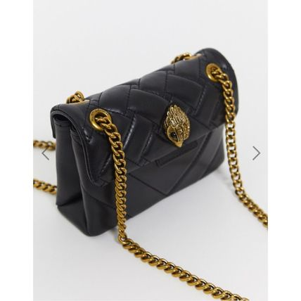 Casual Style Chain Leather Elegant Style Crossbody