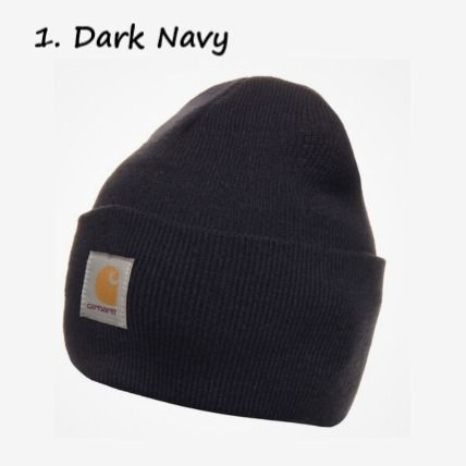 Carhartt Unisex Street Style Neon Color Icy Color Knit Hats