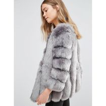 ASOS Faux Fur Plain Cashmere & Fur Coats