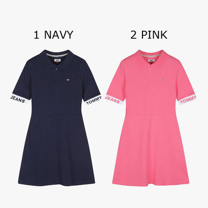 Formal Style  Logo Short Casual Style Maxi Unisex A-line