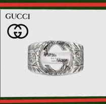 GUCCI Silver Logo Rings