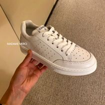 CHANEL Unisex Leather Logo Sneakers
