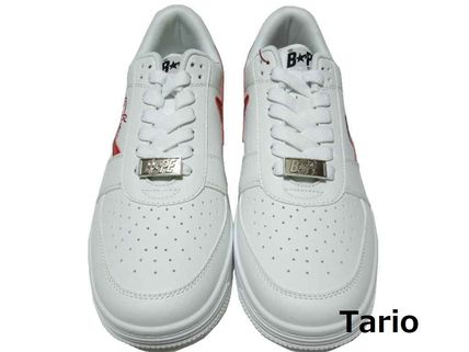 A BATHING APE Street Style Collaboration Logo Sneakers