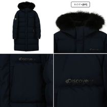 Discovery EXPEDITION Unisex Street Style Plain Long Logo Down Jackets