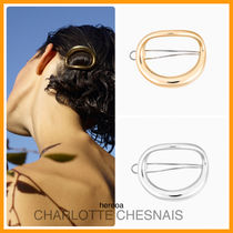 Charlotte Chesnais Barettes Casual Style Party Style Brass Office Style