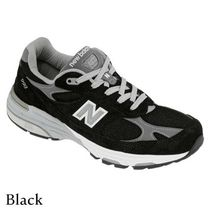 New Balance 993 Casual Style Leather Logo Low-Top Sneakers
