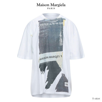 Maison Margiela Crew Neck Crew Neck Pullovers Street Style Cotton Short Sleeves Logo