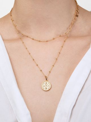 Unisex Street Style Brass 14K Gold Necklaces & Pendants