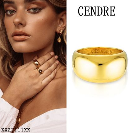 Unisex Street Style Handmade Party Style Brass 18K Gold