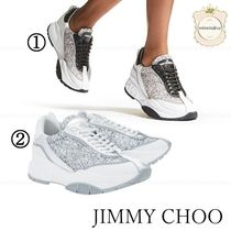 Jimmy Choo Casual Style Glitter Low-Top Sneakers
