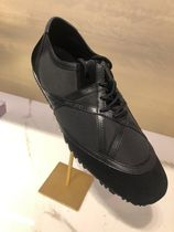 Jimmy Choo Star Studded Street Style Leather Logo Sneakers
