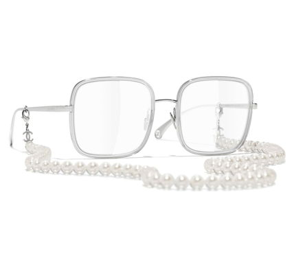 CHANEL Chain Square Eyeglasses