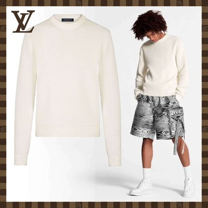 Louis Vuitton Sweaters Mix Stitches Crewneck With Back Embroidery
