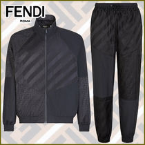 FENDI Street Style Co-ord Nylon Jacket  Activewear Tops