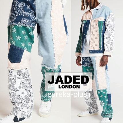 JADED LONDON More Jeans Printed Pants Denim Street Style Cotton Jeans
