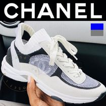 CHANEL SPORTS Unisex Street Style Plain Leather Handmade Logo Sneakers