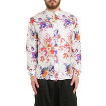 Christian Dior Flower Patterns Silk Street Style Collaboration Long Sleeves