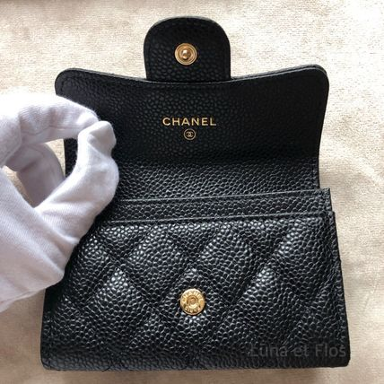 CHANEL MATELASSE Calfskin Small Wallet Card Holders