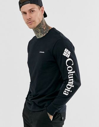 Crew Neck Street Style Long Sleeves Long Sleeve T-shirt