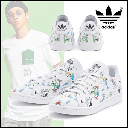 adidas STAN SMITH Unisex Street Style Other Animal Patterns Leather Logo