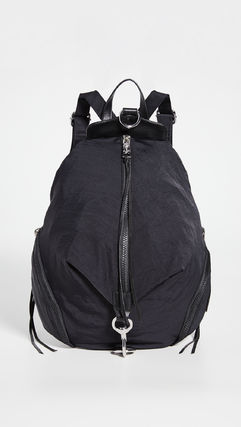 Casual Style Street Style Plain Office Style Logo Backpacks