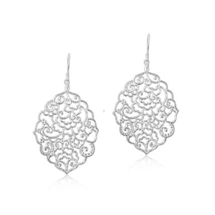 Casual Style Party Style Silver Elegant Style Earrings
