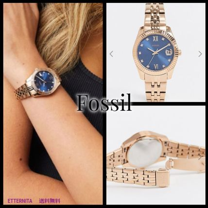 Round Stainless Office Style Elegant Style Analog Watches