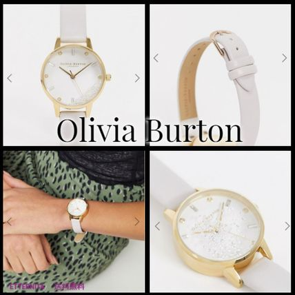 Round Jewelry Watches Office Style Elegant Style