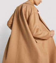 S Max Mara Wool Plain Long Chester Coats