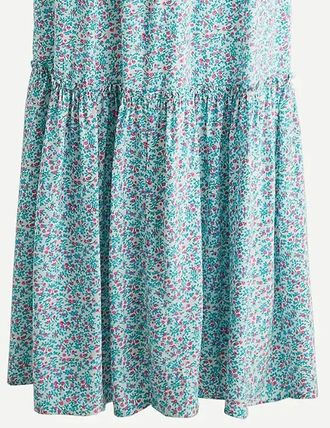 Flower Patterns Casual Style Puff Sleeves Formal Style