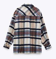 ZARA Other Plaid Patterns Casual Style Wool Long Sleeves