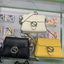 GUCCI Casual Style Leather Party Style Elegant Style Crossbody