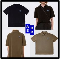 ADERERROR Casual Style Unisex Street Style Short Sleeves Polos