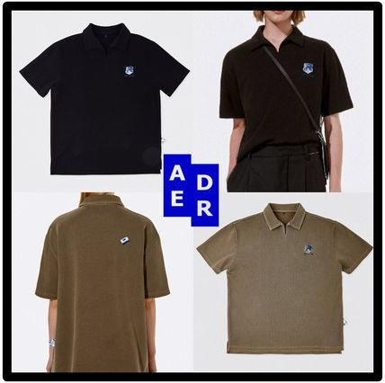 ADERERROR Casual Style Unisex Short Sleeves Street Style Polos