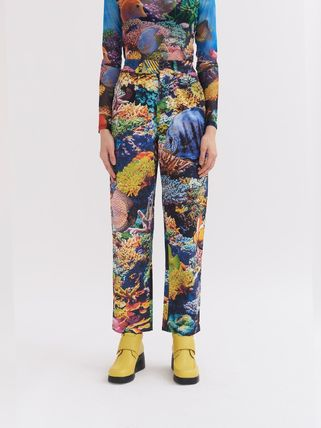 Printed Pants Star Tropical Patterns Unisex Street Style