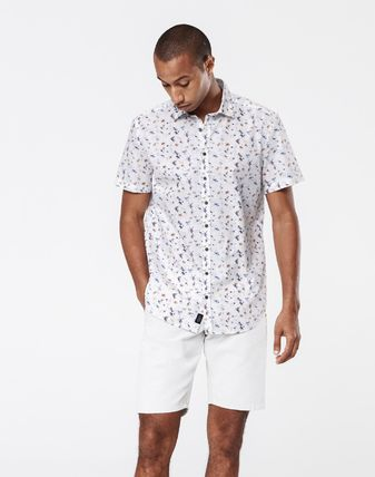 Flower Patterns Cotton Short Sleeves Shirts