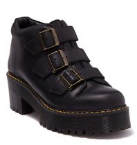 Dr Martens Casual Style Plain Leather Block Heels Chunky Heels