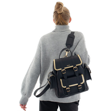 Casual Style 2WAY Leather Elegant Style Backpacks